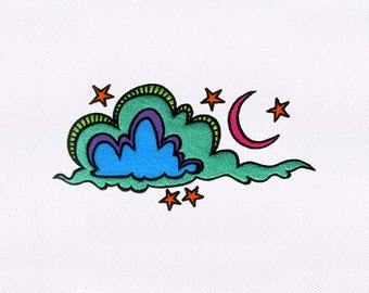 Drifting Clouds Digital Machine Embroidery Design