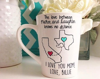 State to State Mother and Daughter Mug