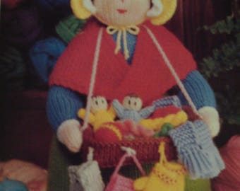 Handmade Knitted Pedlar Doll Bazaar Knits (New, Made To Order) 3+