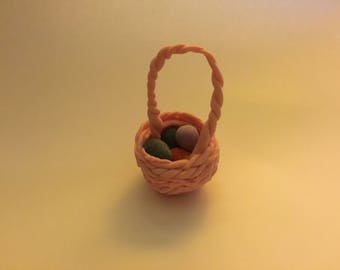 Easter eggs + basket