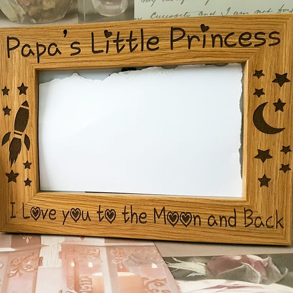 Daddys Little Princess photo frame, Gift for men, father\'s day Gift ...