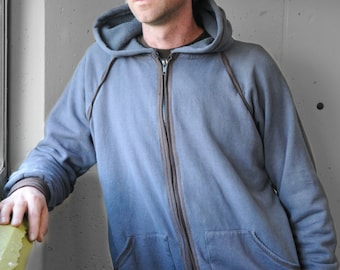 Men's zipper hoodie/ Hemp, Organic cotton