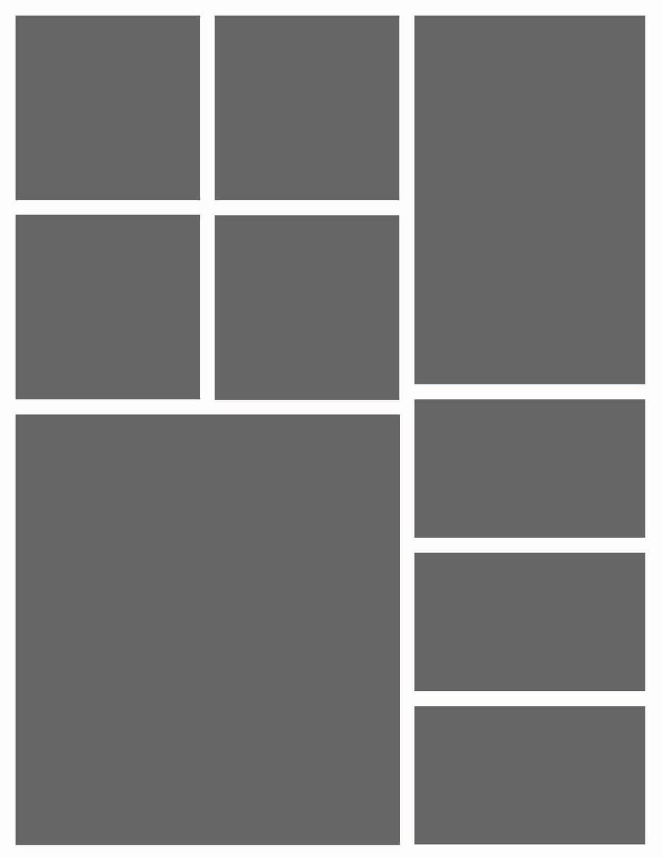 Instant Download-8.5 x 11 Storyboard Fotografen Vorlage