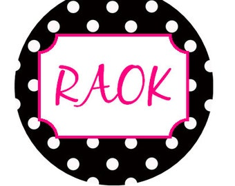 35mm round RAOK stickers - various designs (random acts of kindness)