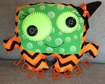 Halloween monster witch stuffed plushie