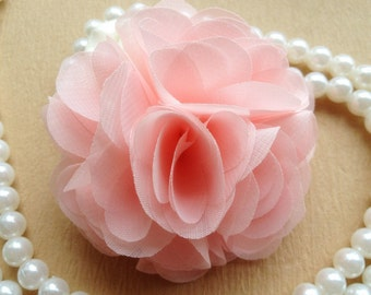 Blush pink flowers etsy blush pink flowers 3d chiffon rosette appliques for bridal hair flowers wedding decors diy supplies mightylinksfo