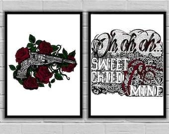Guns N Roses 'Sweet Child O' Mine' Art Prints