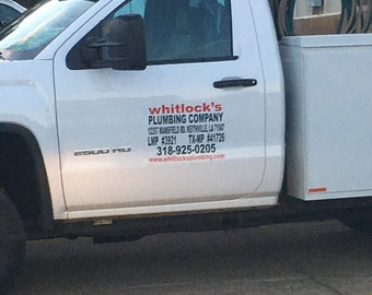 Truck Decals - Work or Business Truck Decals