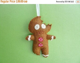 Funny Gingerbread Man Christmas tree decoration ornament