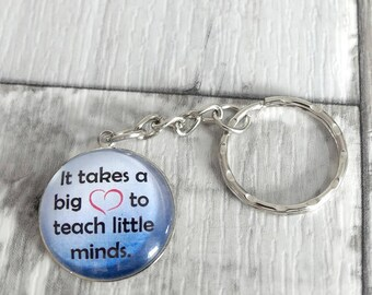 Teacher Gifts, Teacher Keychain, Keyring, Gift For Teacher, Thank You Gift, Teacher Gift Ideas, Teacher Appreciation, Cabochon, Best Gifts