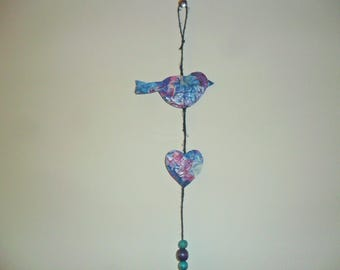 Bird and Heart Hanging Decoration