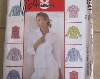 Mc Calls 3541 PATTERN / 8 models of blouse for women's size 18-22 years old