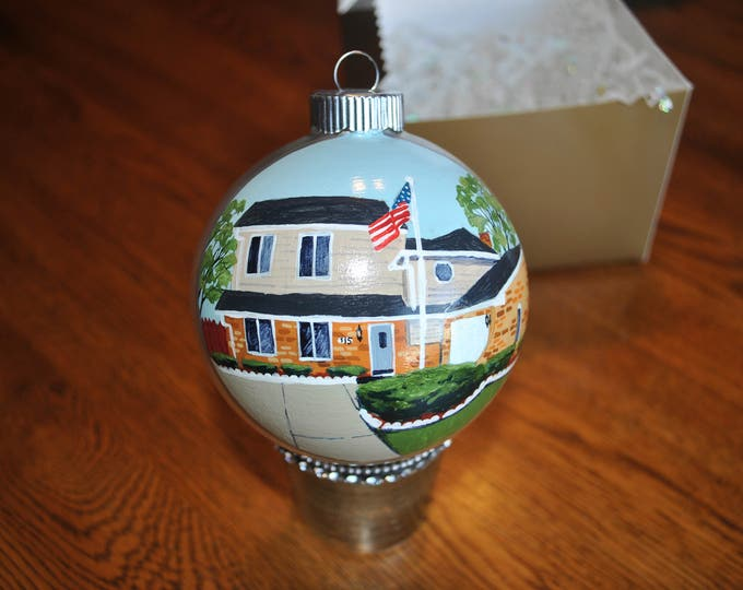 Custom Hand Painted New Home Ornament ... sold
