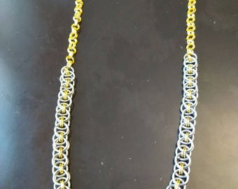 celtic chainmaille necklace