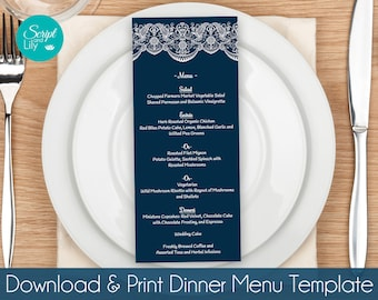 Printable Dinner Menu Templates Easy To Edit And Print - Free pages menu template