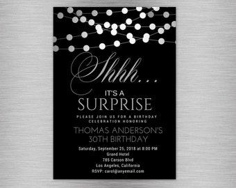 Men birthday invite Etsy