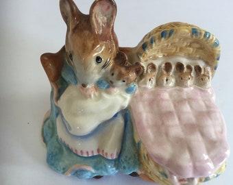 Vintage Beatrix Potter's Hunca Munca F. Warne & Co Ltd Beswick England