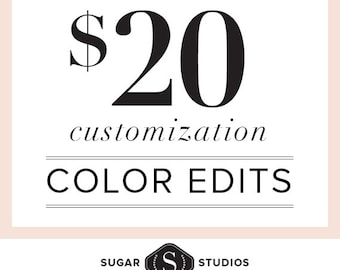 Custom Color Edits to Clipart or Digital Backgrounds // Graphic Design, Freelance, Customization, Matching, Coordinating, Designer for Hire