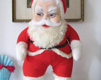 Sweet Vintage Plush Santa Claus Rubber Face
