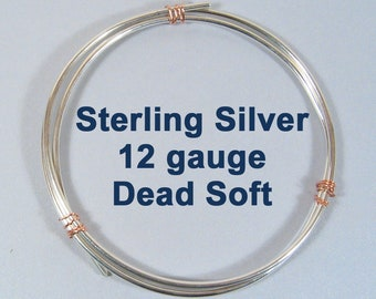 Sterling Silver Wire - 12ga DS - Choose Your Length