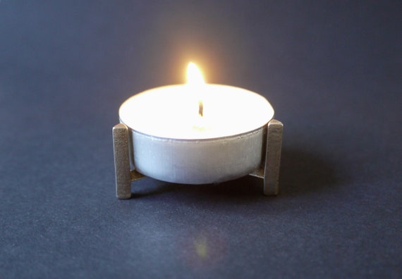 Candleholder Tea Light, Candle Stand made from Stainless Steel