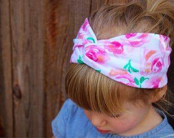 Floral Turban Headband, Retro Headband, Baby and Adult, Turban Headband, Adult Headband, Headwrap, Headband, Baby Turban