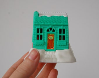 Vintage Polly Pocket Compact Chalet House, Vintage Polly Pocket Playset Bluebird Toys 1995 , Green and Pink Polly Pocket House