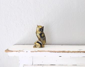Vintage Brass Owl // Solid Brass