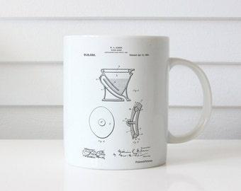 Siphoning Water Closet 1909 Patent Mug, Toilet Mug, Bathroom Mug, Restroom Mug, Dorm Mug, Apartment Decor, PP0129