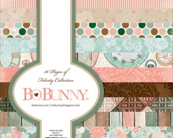"""Bo Bunny Single-Sided Paper Pad,6""""X6"""",36/Pkg,Felicity,Cardstock,Scrapbooking,Scrap Book Paper,Card Making,Crafting, Paper Crafts, Springtime"""