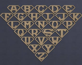 SuperLetter Symbol, Wood Cutout, Unfinished Sign