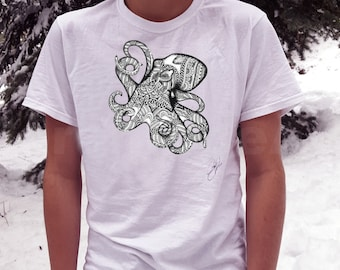 Octopus shirt/ octopus tshirt mens/ octopus tshirt/ tee shirt mens/ tee shirt womans/ short sleeve shirt/ graphic tee/ octopus/ tshirt