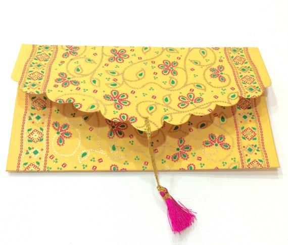 Favorite Set of 5 Gift Envelopes with Tassels Money Envelopes Cash BX65