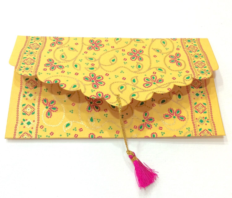 Set Of 5 Gift Envelopes With Tassels Money Cash