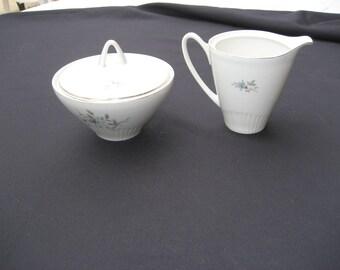 VTG Royal Heiden Society Fanasty Creamer and Lidded Sugar Bowl