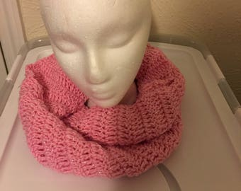 Pink Sparkle Infinity Scarf