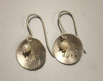 """Earrings """"Puff Flower"""" 925/-Handmade"""