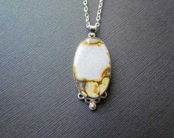 Bronzite Necklace - Beautiful Oval Brown Bronzite Pendant - Gemstone Jewelry -