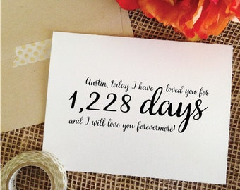 Wedding day card I have loved you for days card today I have loved you for husband card Anniversary gift for boyfriend Wedding Card