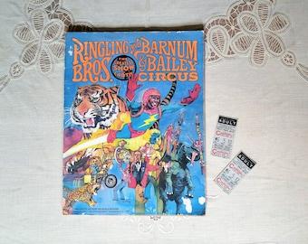 1978 Ringling Brothers Barnum Bailey Circus Souvenir Program Circus Ticket Stubs Circus Poster Vintage Circus Memorabilia Circus Ephemera