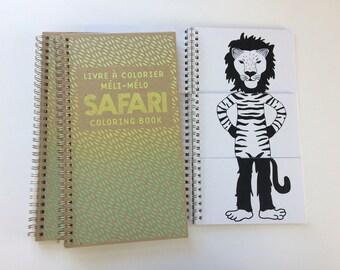 Livre à Colorier Méli-Mélo SAFARI / Mix-and-match Coloring book