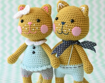 PATTERN - Meow cat - amigurumi crochet pattern, pdf (English)