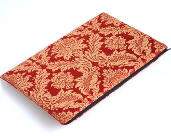 Couverture matelassée à manches MacBook 15 cas de rétine sac des ornements d'or rouges