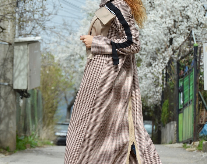 Maxi Dress, Long Women Dress, Asymmetric Long Sleeves Dress, Oversize Elegant Dress, Maxi Zipper Kaftan by SSDfashion
