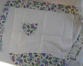 Vintage Child's Apron Made with Sheer and Flour Sack Fabric  -Vintage