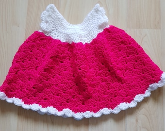0-3months hot pink baby dress poncho and hat