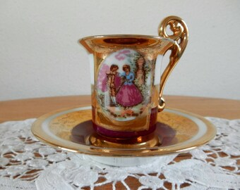 Cup and saucer Louis XVI