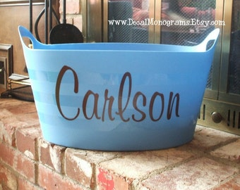 Personalized Vinyl Single Name Wall Decal