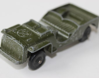 Vintage Tootsietoy Army Jeep  Green Car Die Cast Metal Toy Jeep Car Army Green Collectible Toys Collectible Toy MASH Best TV Show on TV