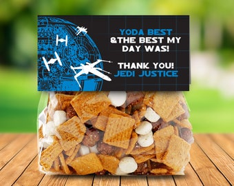 Star Wars Treat Bag Topper - Star Wars Birthday Party, Tie Fighter, Favor Topper | Editable Text - DIY Instant Download PDF Printable